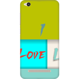 Printed Designer Back Cover For Redmi 5A - I Love You Design