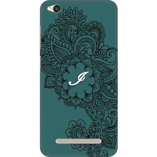 Printed Designer Back Cover For Redmi 5A - Ornamental Pattern Letter Alphabet I Design