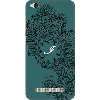Printed Designer Back Cover For Redmi 5A - Ornamental Pattern Letter Alphabet I Design