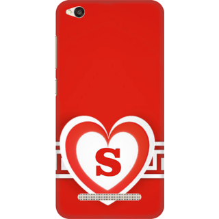 Buy Printed Designer Back Cover For Redmi 5a Red Heart Pattern