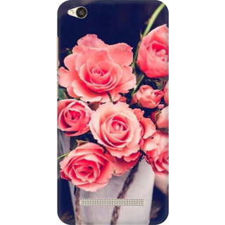 Printed Designer Back Cover For Redmi 5A - Pink Roses Design