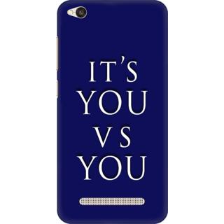Printed Designer Back Cover For Redmi 4A - Its You V S You Design