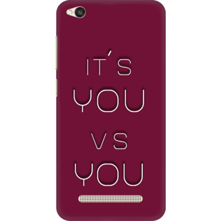 Printed Designer Back Cover For Redmi 4A - Its You V S You Design