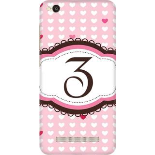Printed Designer Back Cover For Redmi 4A - Heatrs Grunge Pattern Letter Alphabet Z Design