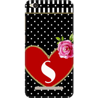 Buy Printed Designer Back Cover For Redmi 4a Red Heart Polka Dots
