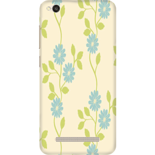 Printed Designer Back Cover For Redmi 4A - Vintage Floral Pattern Design