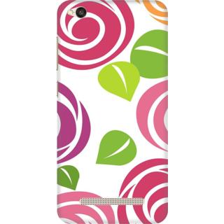 Printed Designer Back Cover For Redmi 4A - Flowers art Design