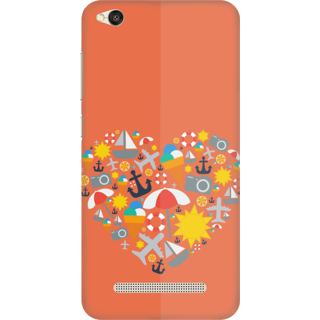 Printed Designer Back Cover For Redmi 4A - Nature Heart Design