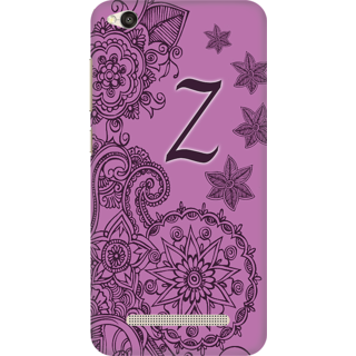 Printed Designer Back Cover For Redmi 4A - Floral Pattern Letter Alphabet Z Design