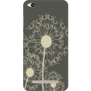 Printed Designer Back Cover For Redmi 4A - Flowral Grunge Pattern Design