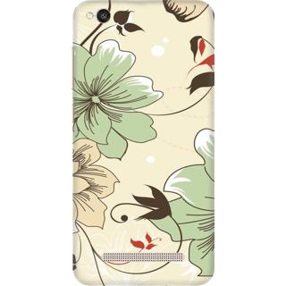 Printed Designer Back Cover For Redmi 4A - Vintage Floral Pattern Design