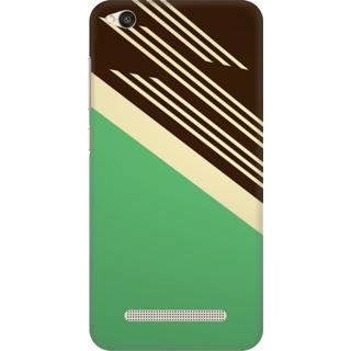 Printed Designer Back Cover For Redmi 4A - Retro Color Shapes Design