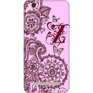 Printed Designer Back Cover For Redmi 4A - Floral Pattern Letter Alphabet Z Design