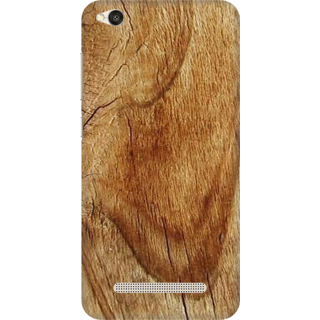 Printed Designer Back Cover For Redmi 4A - Wooden Block Design