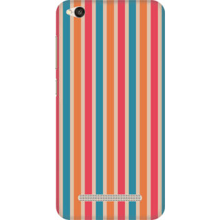Printed Designer Back Cover For Redmi 4A - Colorful Stripes Pattern Design