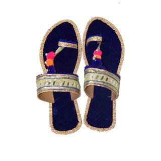 Decot Paradise Women Blue Ethnic Footwear