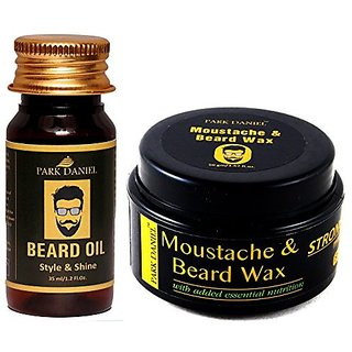 Park Daniel Premium Beard Oil and Moustache & Beard wax Combo pack( 35 ml & 50 gm)