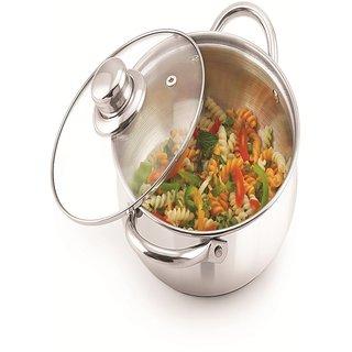 Meenamart Cook and Server Dutch Oven Stainless Steel Casserole (1000 ml)