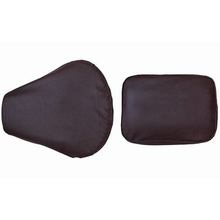 Bike Seat Cover For Bullet Motorcycle Classic Crome Dark Brown