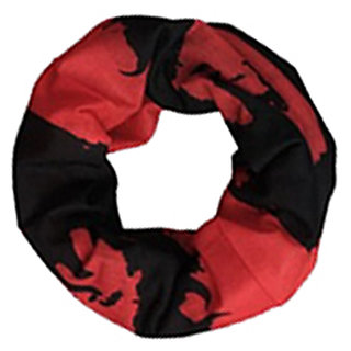Futaba Bicycle Outdoor Bandana Bohemia Head Face Mask - Black and Red