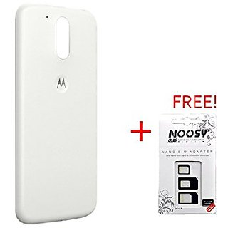 new styles 072f7 5971e BACK Replacement Battery Door Panel Housing Back Cover Case for MOTOROLA  MOTO G4 PLUS (4TH GEN) - WHITE