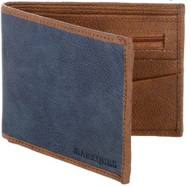 MarkQues  Archer Blue PU Leather Mens Wallet AR-440502