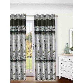 ROSE DESIGN ATTRACTIVE MULTI COLOR SET OF 2 DOOR  WINDOW CURTAINS. (SIZE 7X4 Feet) MC545