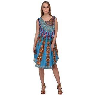 753f53a20c1f Buy Nakoda Creation Women s Rayon Block Print Anarkali Midi Dress ...