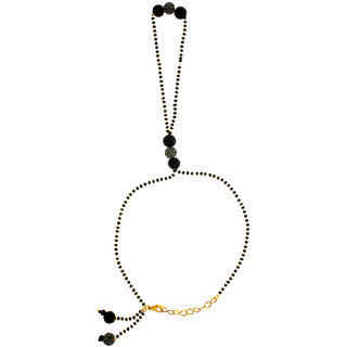 Anuradha Art Black Colour Classy Stylish Wrist Mangalsutra Bracelet For Women