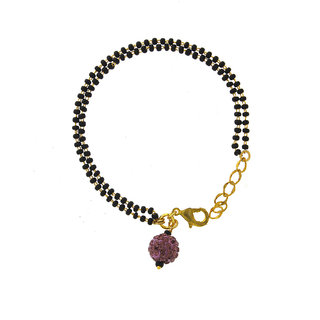 Anuradha Art Dazzling Classy Beautiful Designer Wrist Mangalsutra Bracelet For Women
