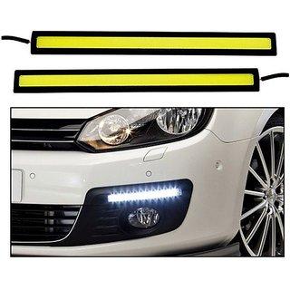 DRL Daytime Running Light for All Cars Bike Waterproof White Cob LED Fog