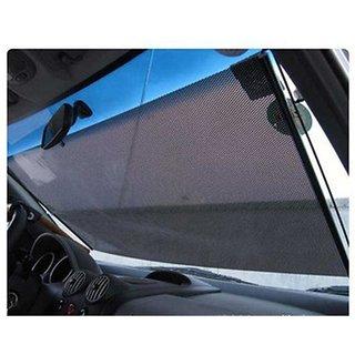 Car Front Window Roller Sunshade Black Colour