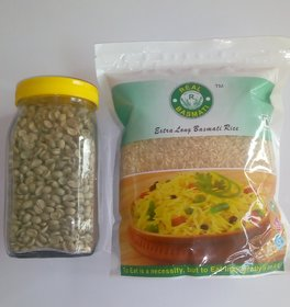 Combo Of Green Coffee Bean(250g)  Brown Rice (1kg)
