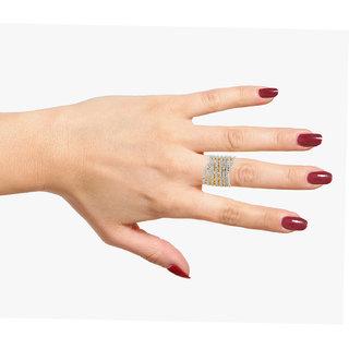 Silveria Designer Women Party Wear Golden  Silver Ring