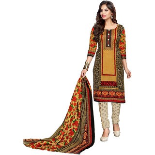 13711083fa5a38 Sahari Designs Multicolor Cotton Printed Salwar Suit Material (Unstitched)