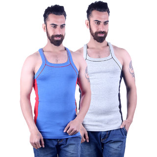 Odoky Grey Royal Men's Vest Pack Of 2 NR