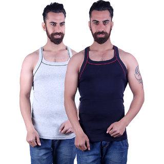 Odoky Grey & Navy Men's Vest Pack Of 2