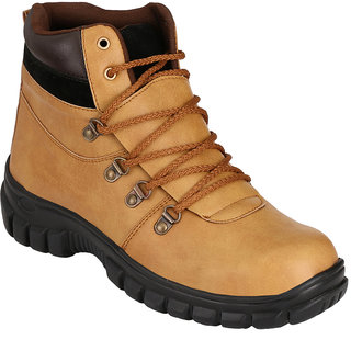 LifeStep Mens Beige Safety Shoe With Steel Toe