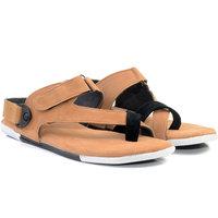 Drake Men's Stylish Velcro Tan Sandals