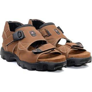 d43a96504ac2 Buy Drake Men s Brown Outdoor Velcro Sandal Online - Get 25% Off