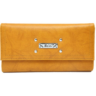 BCC LADIES HAND WALLET (Yellow)320