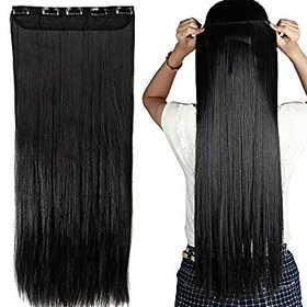 Black synthetic hair extension