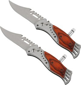 New Pinch Pack Of 2 Foldable Button Knife With Led