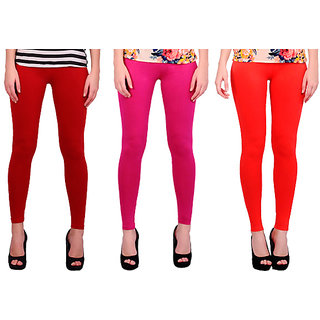 BNA Red, Rani, Nagur Orange Coloured Leggings Cotton & Lycra