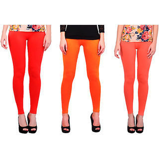 BNA Nagur Orange, Orange, Peach Coloured Leggings Cotton & Lycra