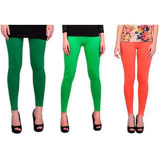BNA Green, Light Green, Peach Coloured Leggings Cotton & Lycra