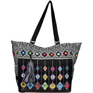 Black Trendy Ethnic Hand Bag