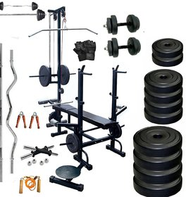 SPORTO FITNESS 20 In 1 Bench Complete Home Gym Package Exercise Sets (60 Kg )