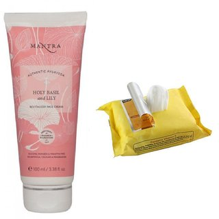 Mantra Holy Basil And Lily Face Cream 100 ml with Face Wipes