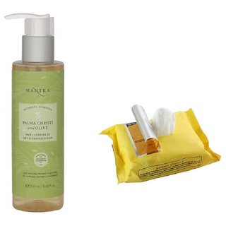 Mantra Palma Christi And Olive Hair Cleanser (100 ml) with Face Wipes